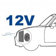Ventilador de 12 V posición detrás (aspirado)