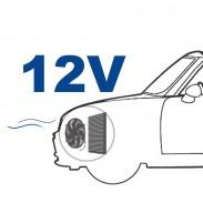 Ventilador de 12 V posición delante (soplado)