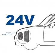 Ventilador de 24 V posición delante (soplado)
