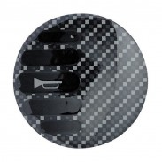 Emblema botón claxon Sparco look fibra de carbono