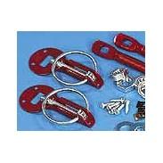 Cierre de capó de aluminio rojo (2 unidades)
