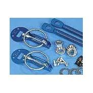 Cierre de capó de aluminio azul (2 unidades)