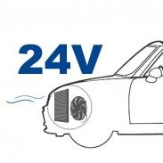 Ventilador de 24 V posición detrás (aspirado)