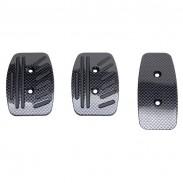 Pedales OMP de aluminio carbon look