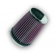 Filtro de aire universal redondo/cónico con tapón de goma
